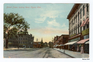 Broad Street, looking west - Elyria, Ohio