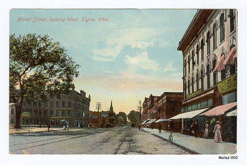 Broad Street, Elyria, Ohio - looking west