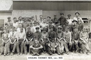 Sterling Foundry crew in 1921