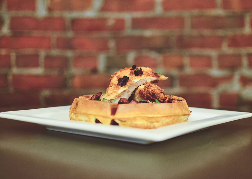 Chicken and Waffle at Foundry